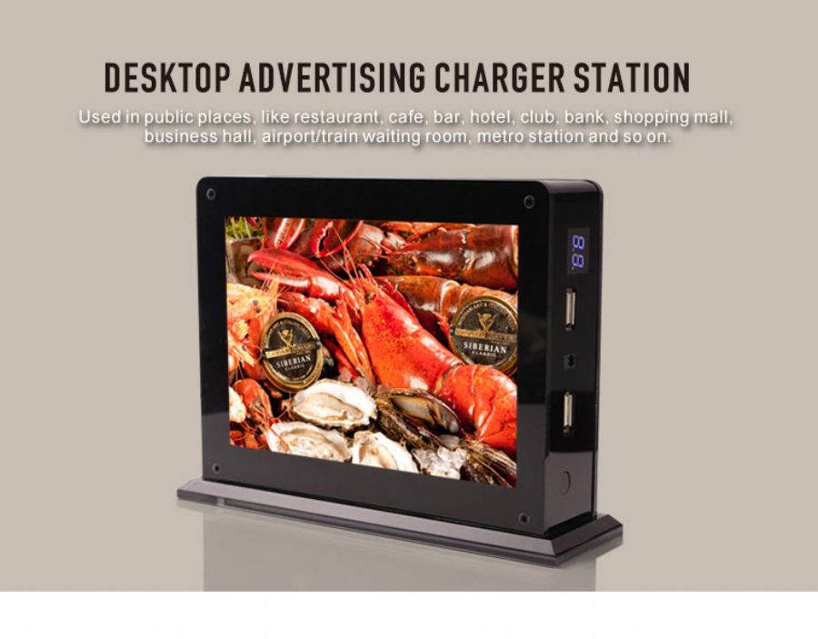 Restaurant Power Bank 10000mah Advertising Dual USB Charger For Cafe And Bar