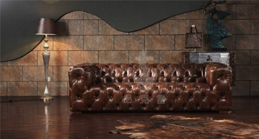 Retro_Vintage_Top_Grain_Brown_Leather_Living_Room_Sofa_Set