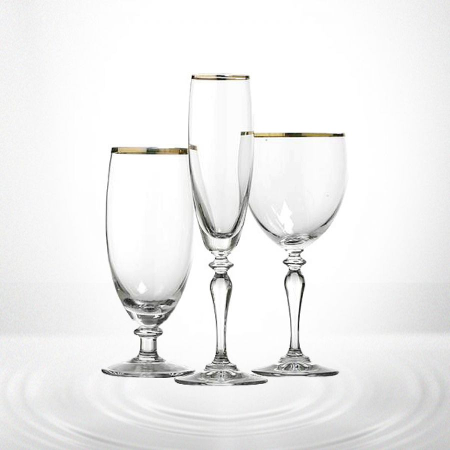 Red Wine Glass With