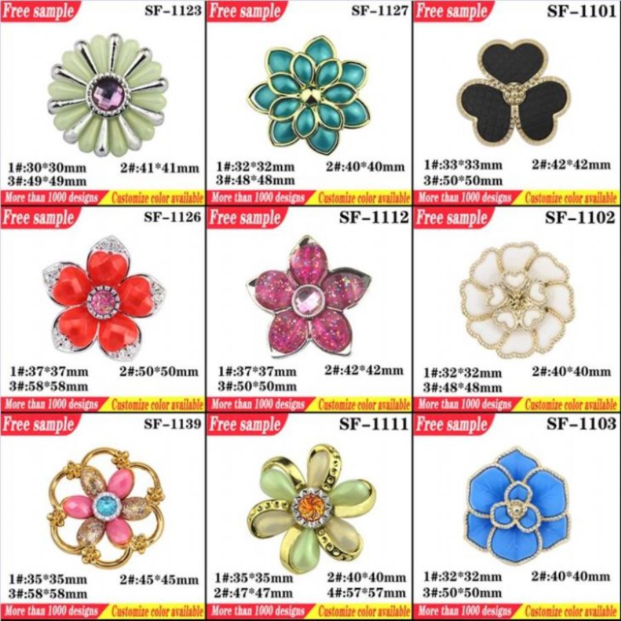 Flower Design Shoes Plastic Clips Various Colors Flip-flop Decorative Buckle Shoes Ornament