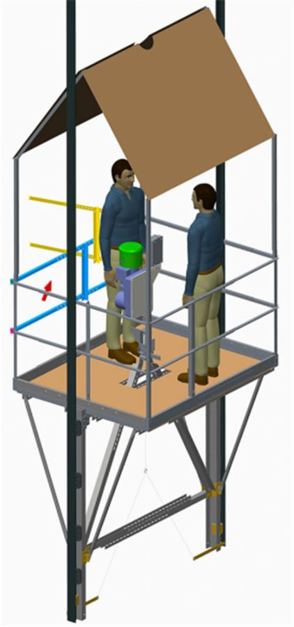 Adjustable Powered Elevator/Lift False Car Kit ( Guided Working Platform For Elevator Installation)
