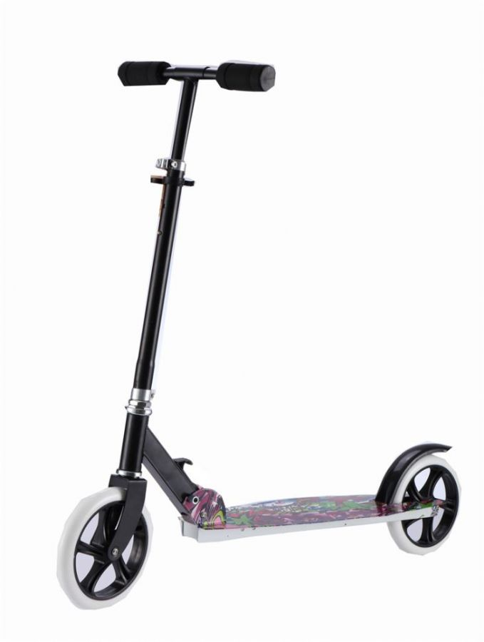 OEM Acceptable Euramerican Style PU Big Wheel Speeder Mini Adult Kick Scooter
