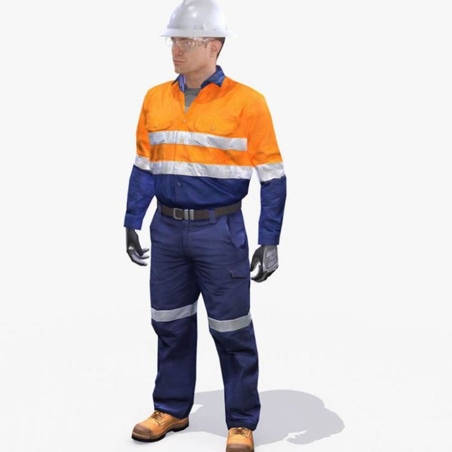 2017 New Cotton Hi Vis Welding Work Clothes With Safety Reflective Flame Retardant Coveralls
