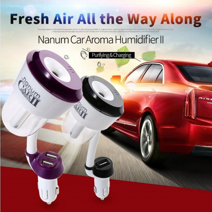 2016 USB mini car aroma diffuser ,car humidifier for Air Aroma Freshener humidifier with 7 color