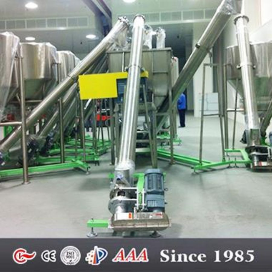 Food Screw Conveyors Spiral Conveyor System For Coffee