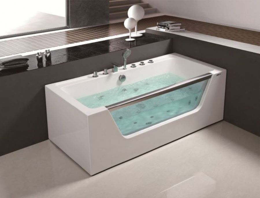 Portable glass batht
