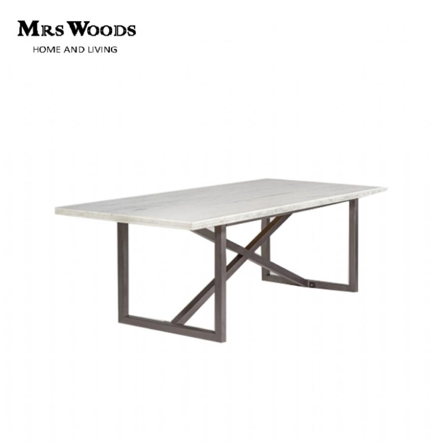 Marble Top Dining Table Base - metal
