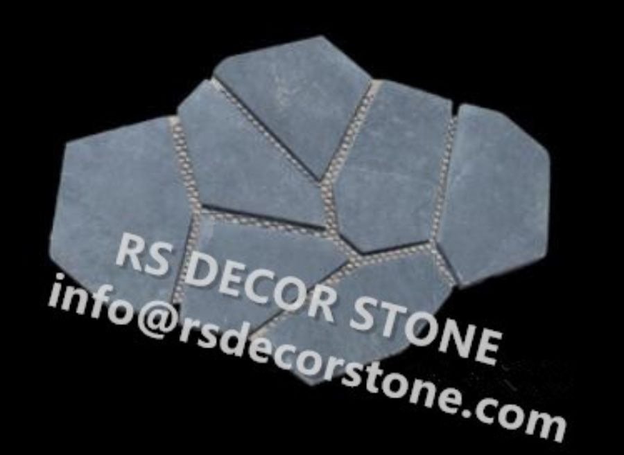 Black Slate Cement Stone Panel(cement backing)