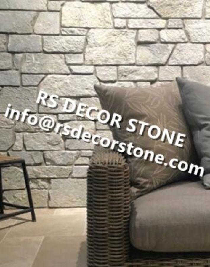Silver White Limestone Ledgestone