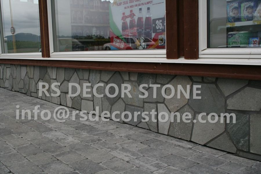 Grey Quartz Pavement(plastic mesh backing)