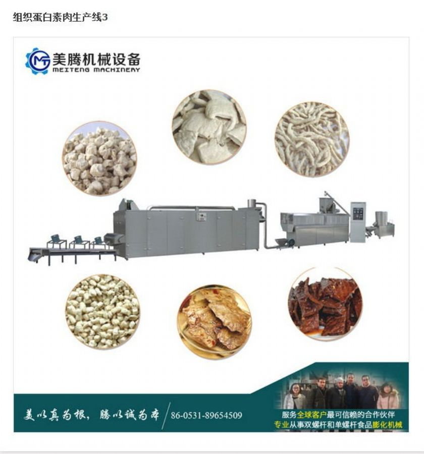 New Products Soy Protein Meat Machine