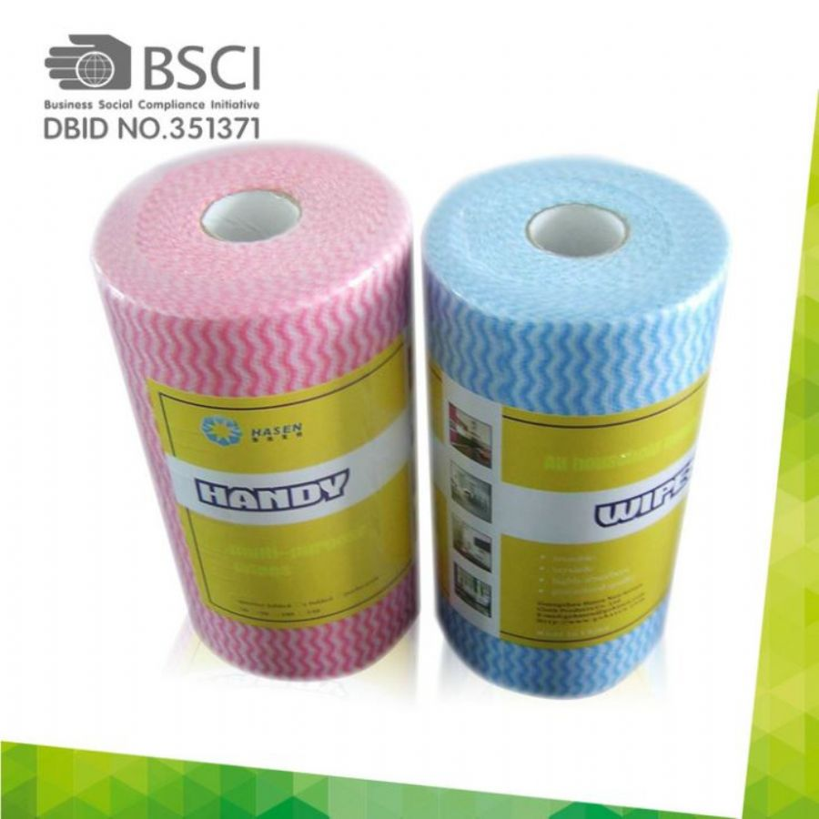 Spunlace Nonwoven Clean Cloth Wipes Use For Kitchen Clean In Perforated Roll Cloth