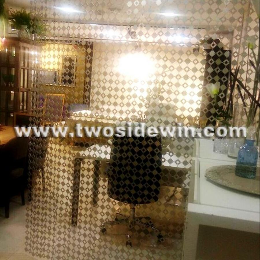 Silver Partition - metal Panel Drapery