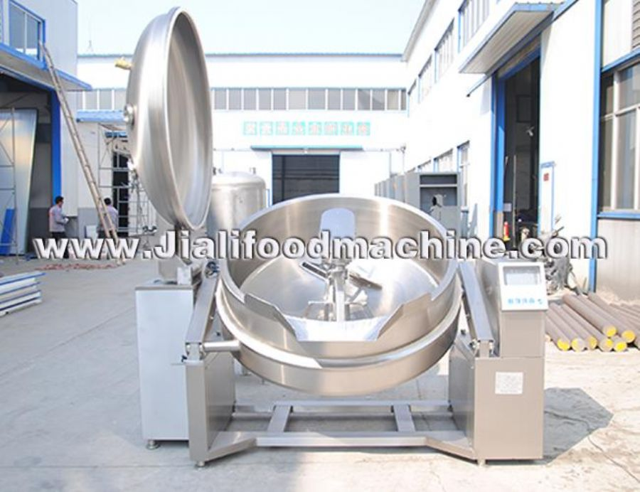 Electric Jacketed Kettle With Mixer