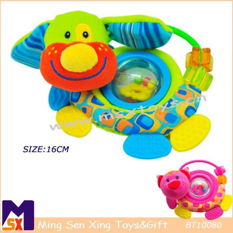 Plush Dog Rattle Toy