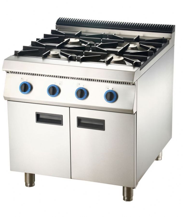 Gas Range Gas Stove Oven With Cabinet Commercial Hotel Kitchen Equipments