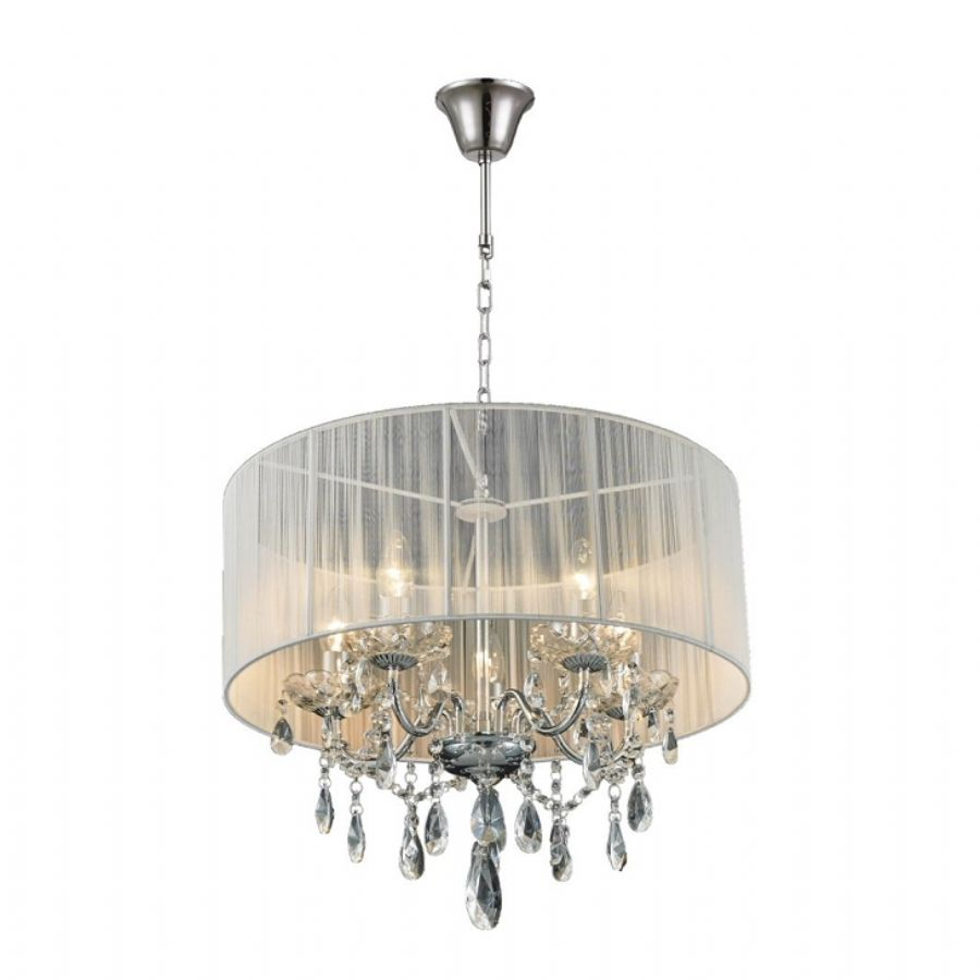 Classical Crystal Chandelier Lighting With Shade For Home