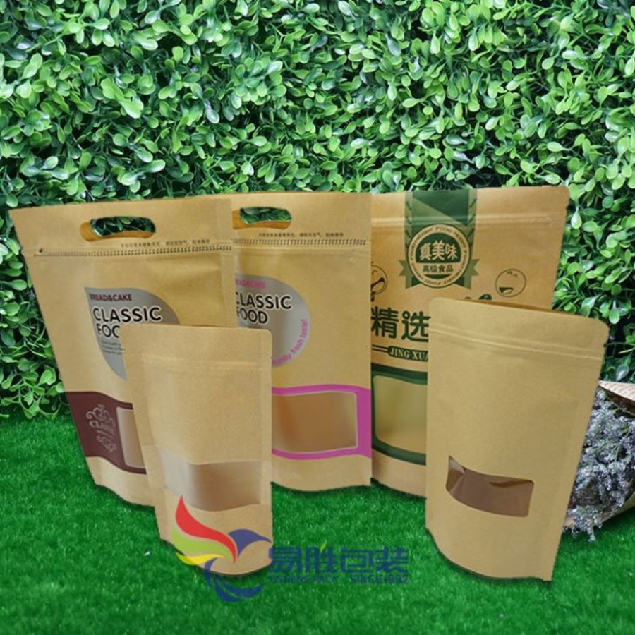 Stand-up Kraft Paper Coffee Bags With Window