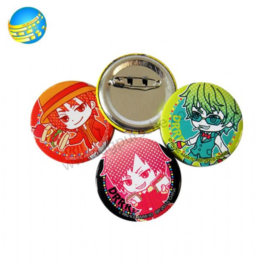 Printing Finish - metal Tin Button Badges