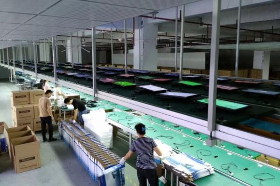 Led Lcd Tv Assembly Line Conveyor For Production Television