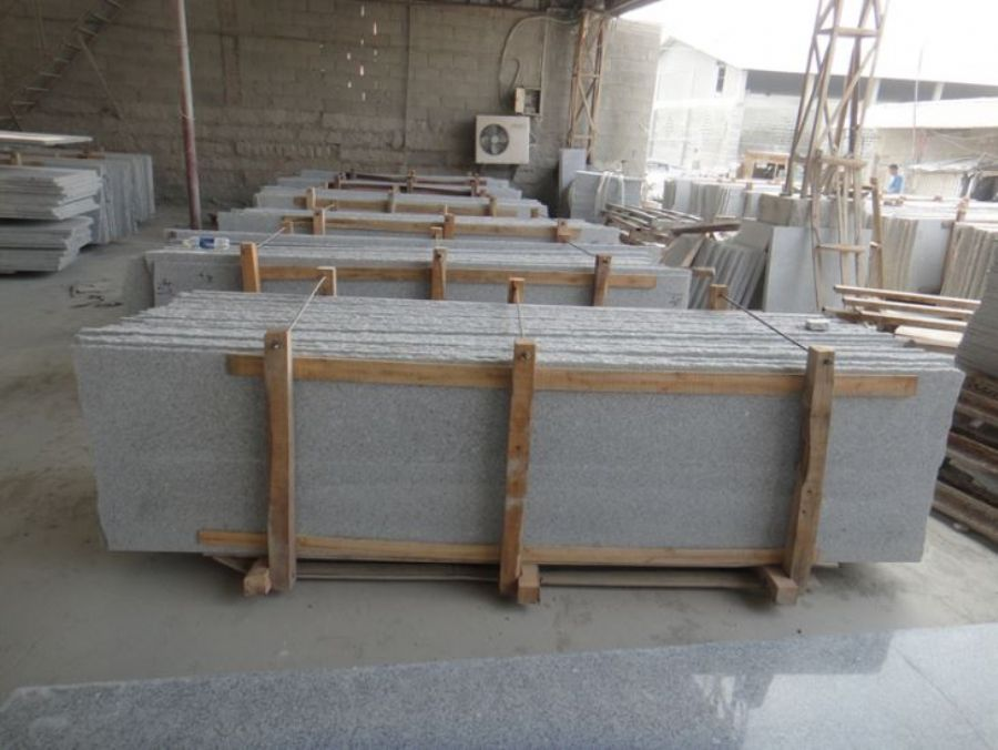 G603 Grey and White Granite Slabs