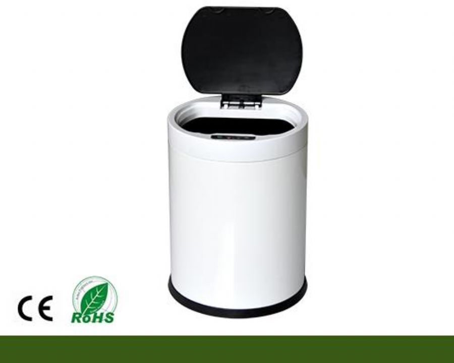 Circle Stainless Steel Sensor Automatic Trash Can