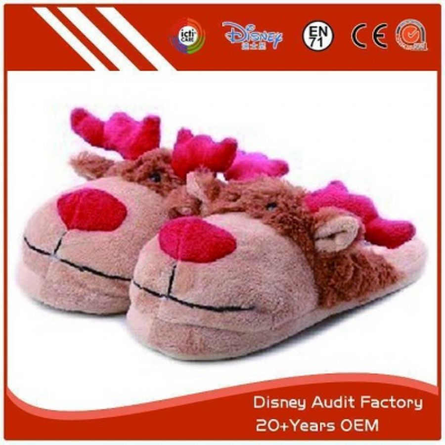 Plush Elk Slippers