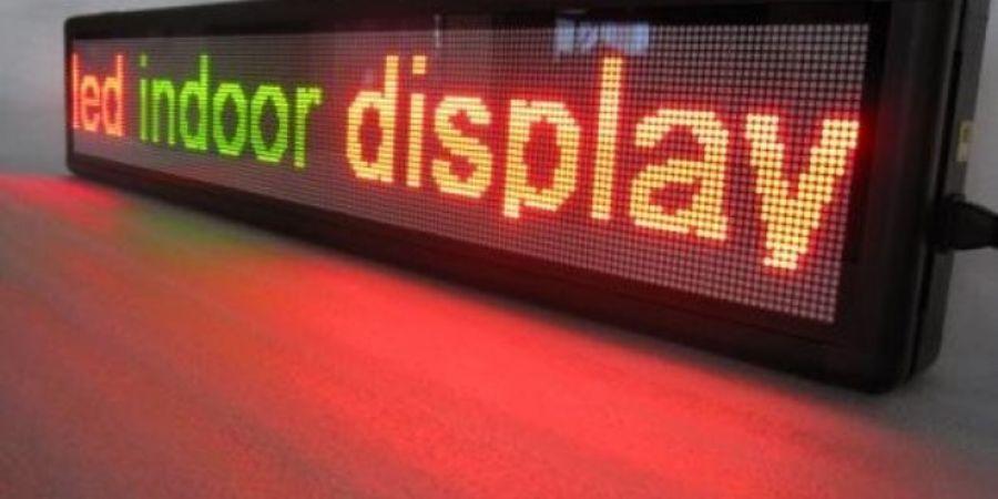 LED aydınlatma ilan panosu