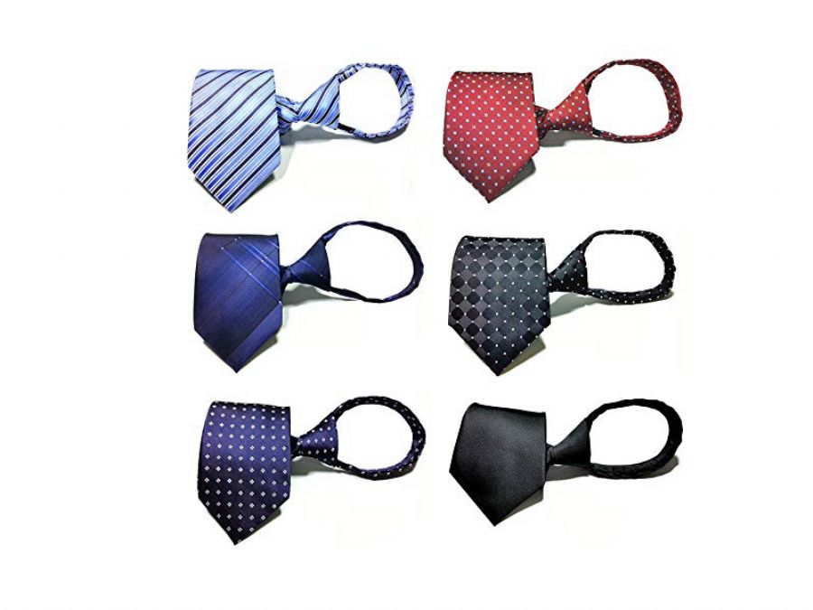 New Design Pre-tied Necktie Zipper Ties