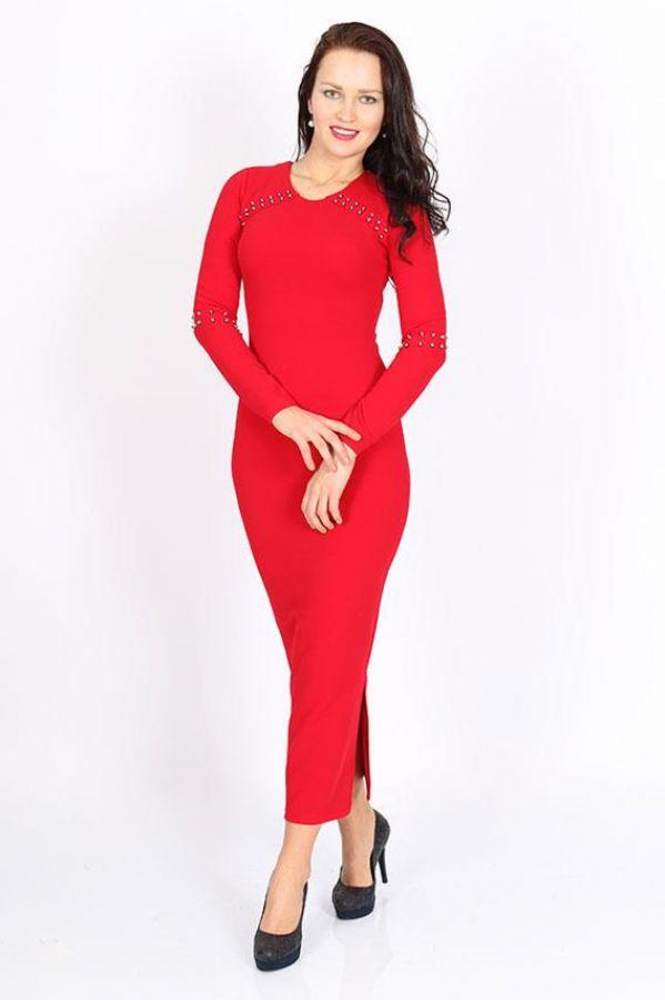 Likralı Elbise Kırmızı