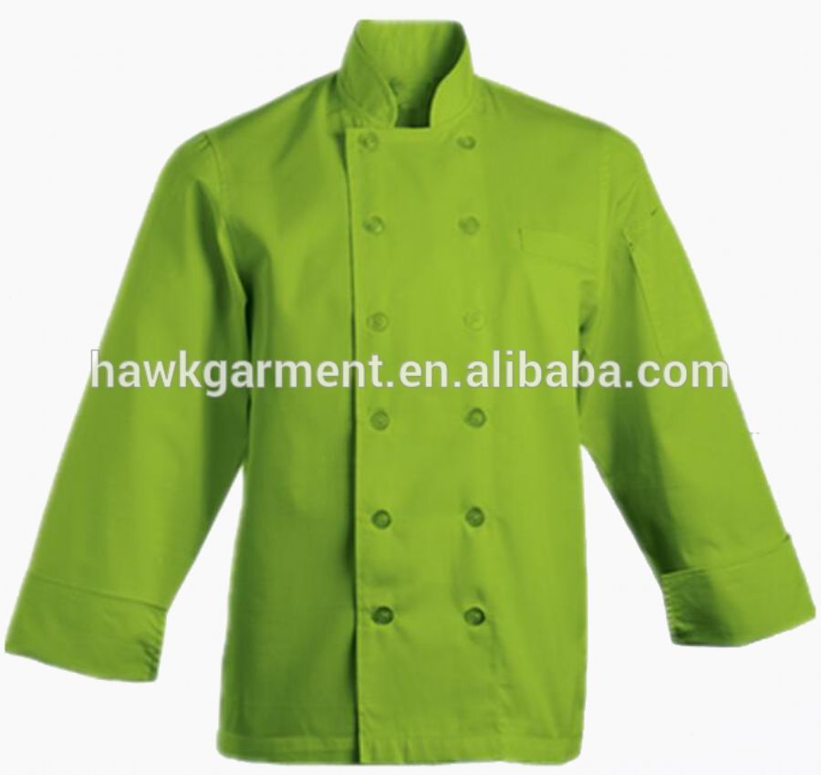 Men Buttons Chef Jacket Restaurant Kitchen Cook Uniform Long Sleeves Best Chef Coats