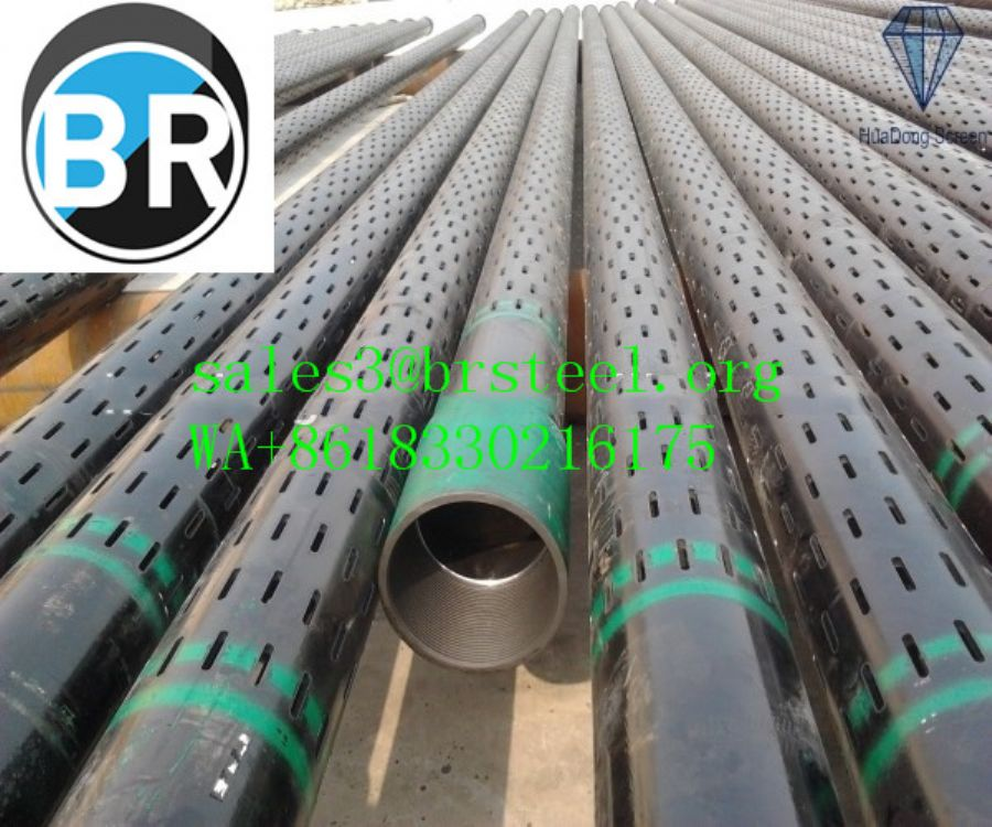 API 5CT water well slotted screen steel casing pipe