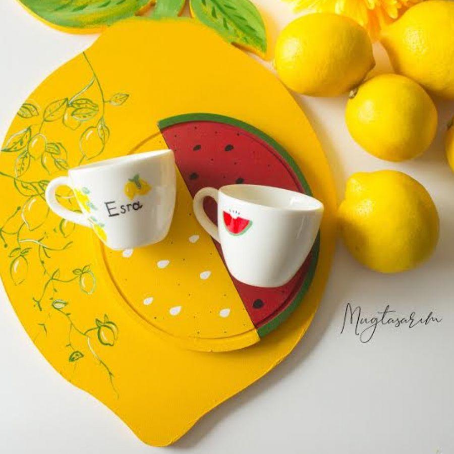 Limon-Karpuz Türk Kahvesi Fincanı