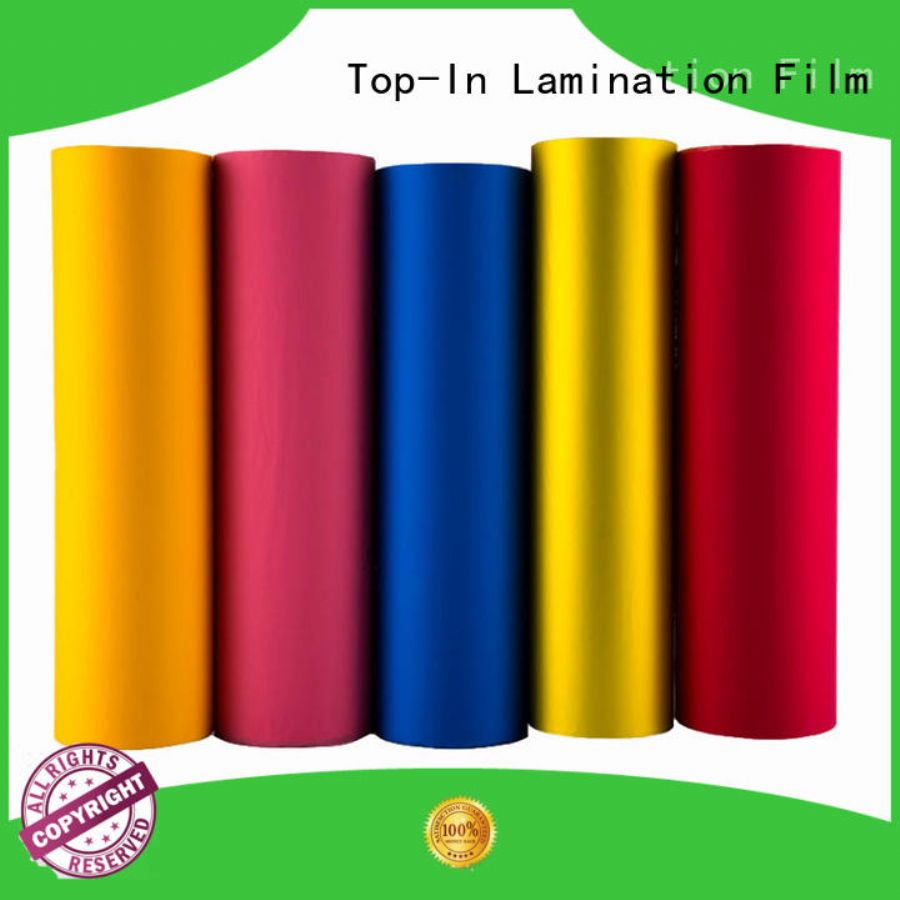 Top-In stable soft touch laminate soft for bags