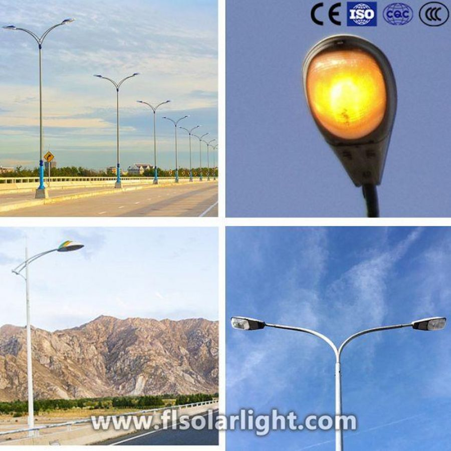 high pressure sodium street lights