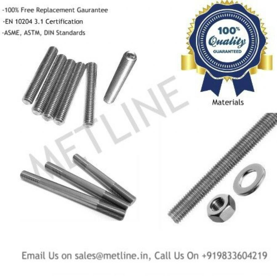Threaded Titanium Studs, Rods ,Bars