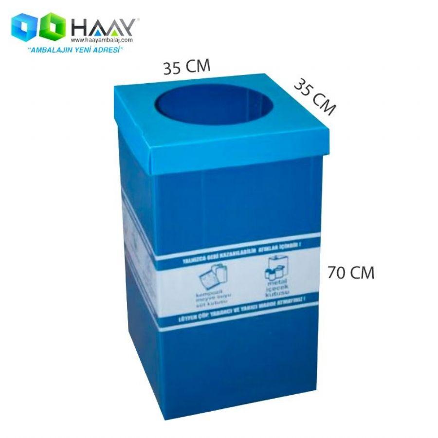 Baskılı Plastik Atık Kağıt Kutusu