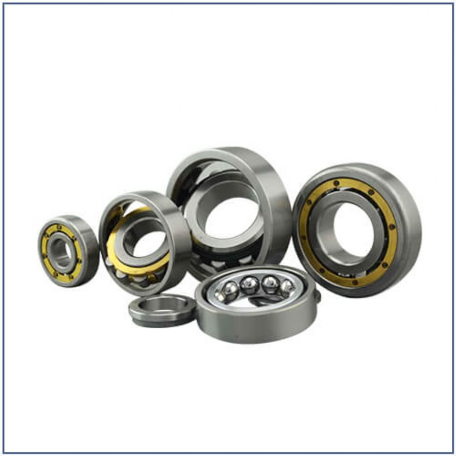Three or four point angular contact ball bearings