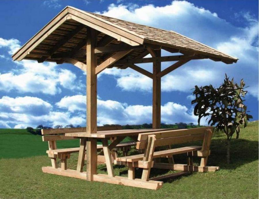 Ahşap piknik masalar