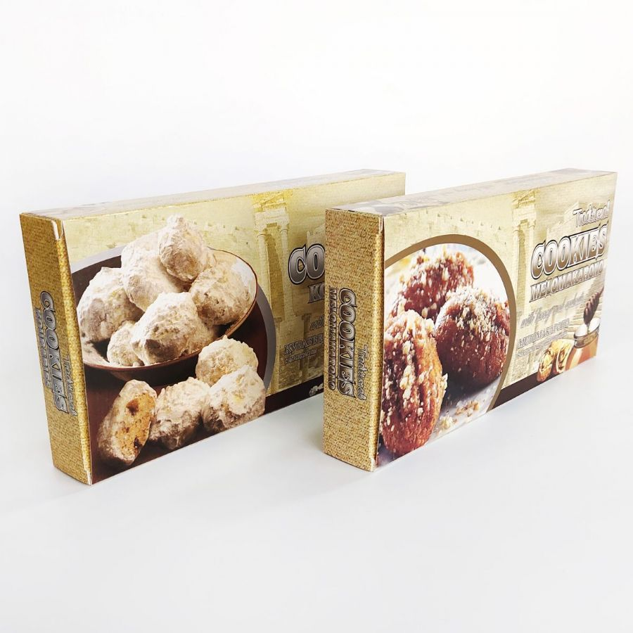 Printed Cookies and Biscuit Packaging Boxes