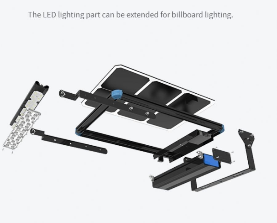 Solar LED billboard