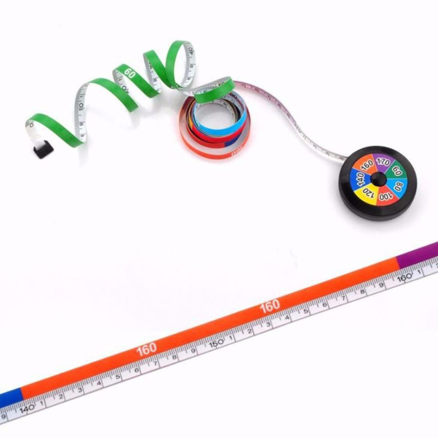 Custom Sewer Tape Measure Retractable Colorful Tape