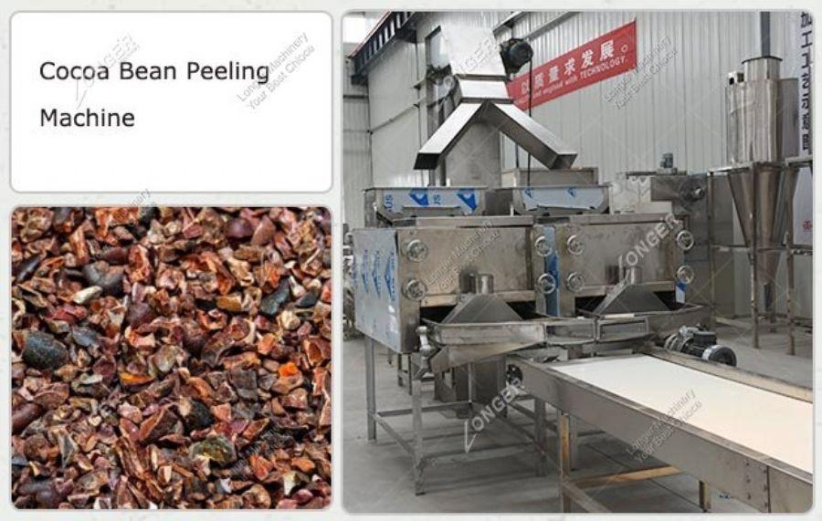 Cocoa peeling machin
