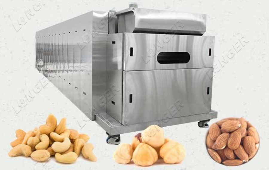 Continuous Belt Nut Roaster Machine for Cashew Nuts