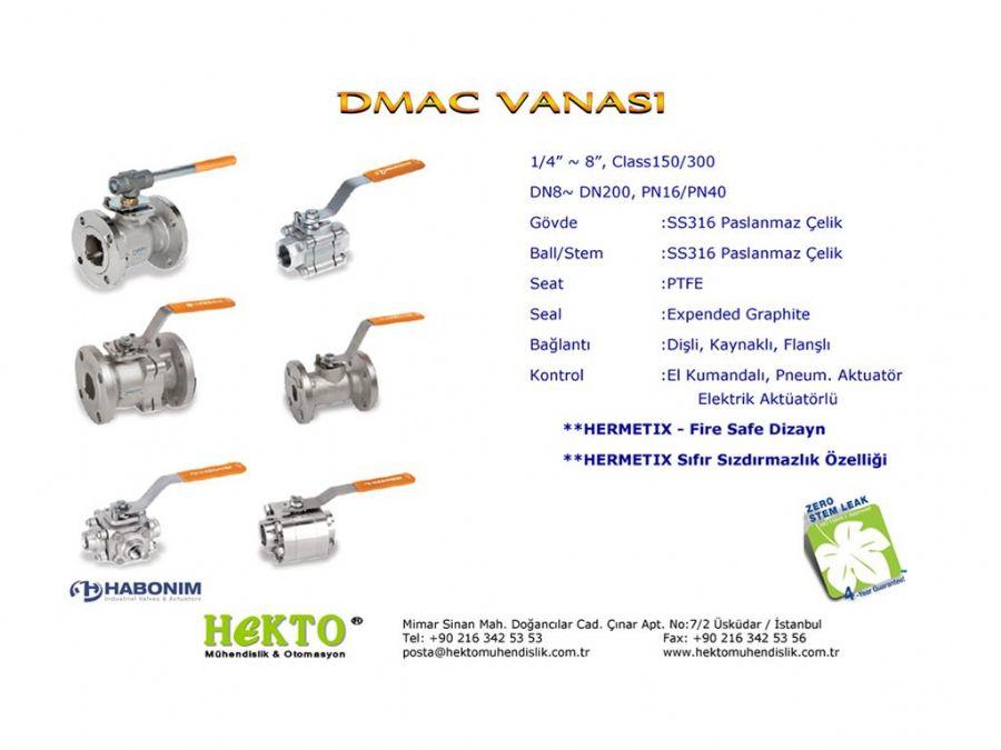 DMAC Küresel Vana Ball Valve