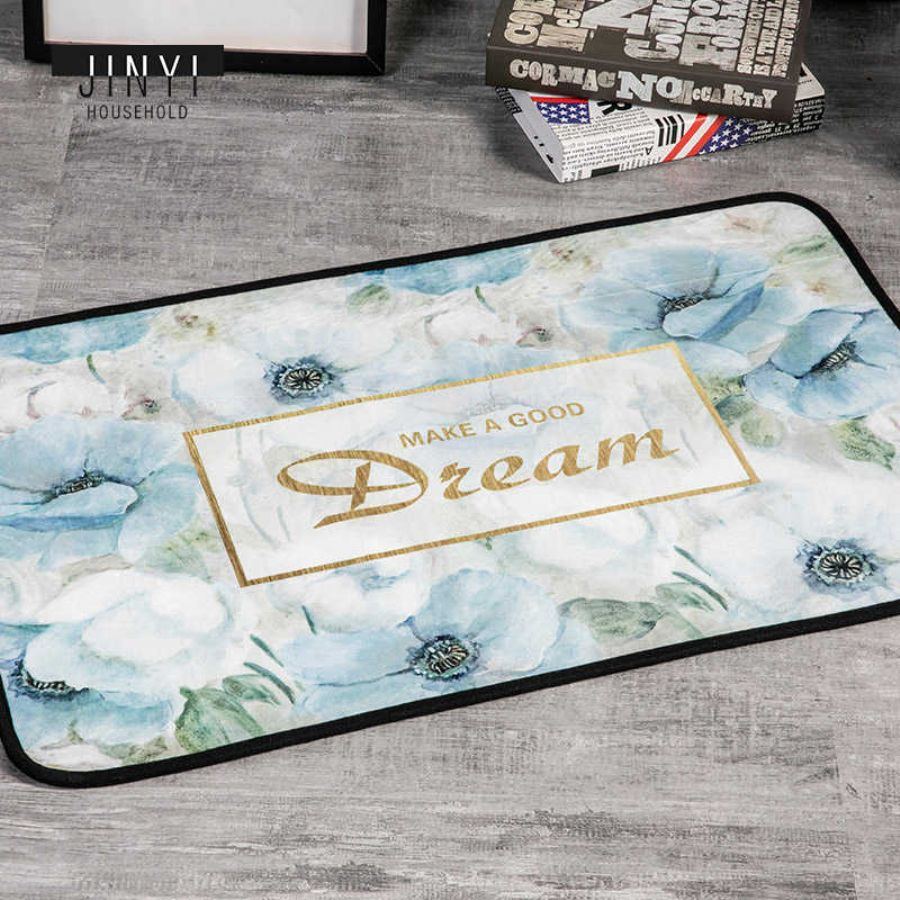High Quality New Fashion Factory Outlet Chenille Nonwoven Door Mat