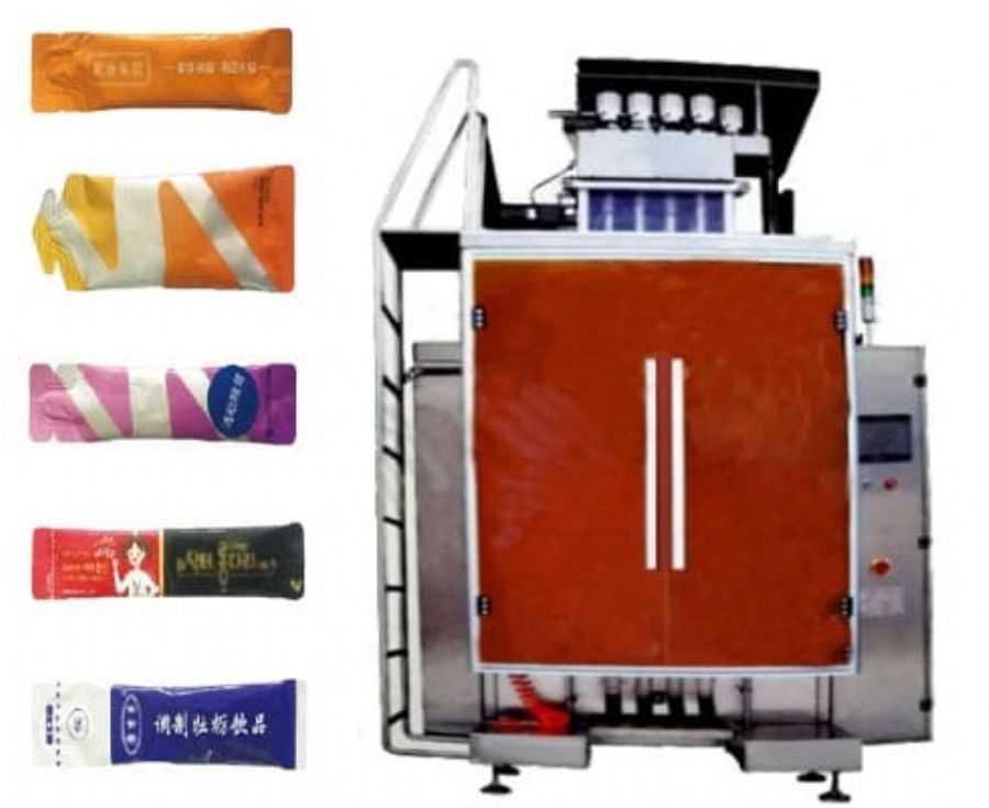 Multi-lines liquid packing machine