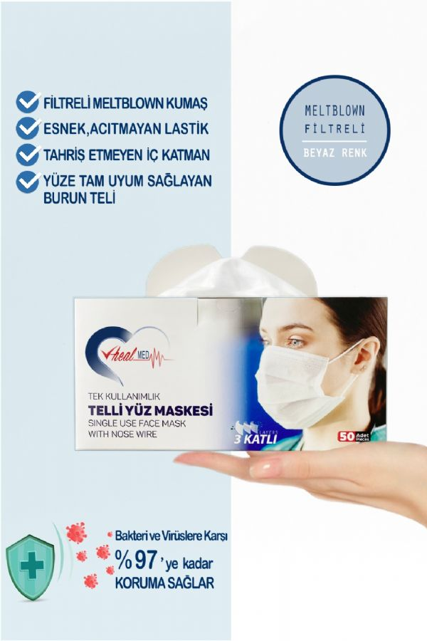 3 Layer MELTBLOWN Surgical Mask / 3 Katl� MELTBLOWN Cerrahi Maske