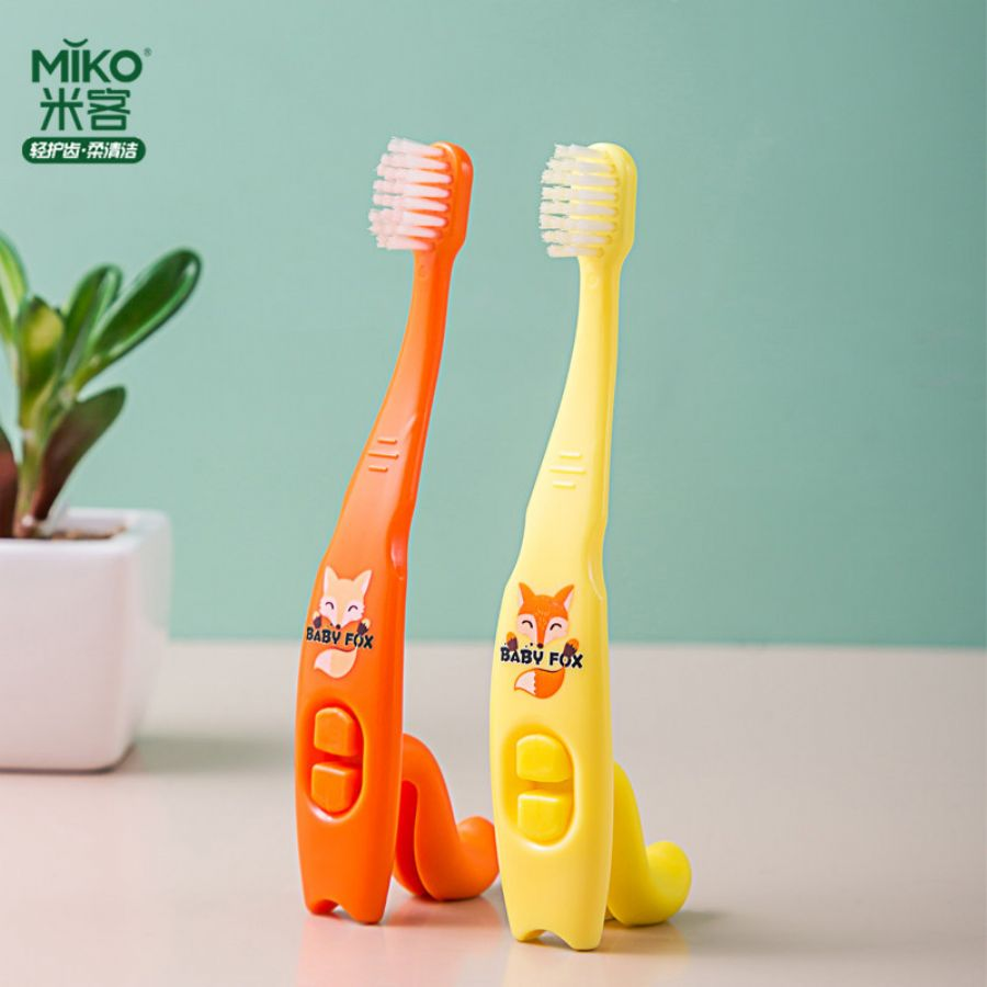 Mikolife_Baby_Fox_Children_stereo_cartoon_toothbrush