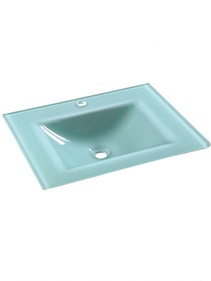 81cm Blue Glass cou